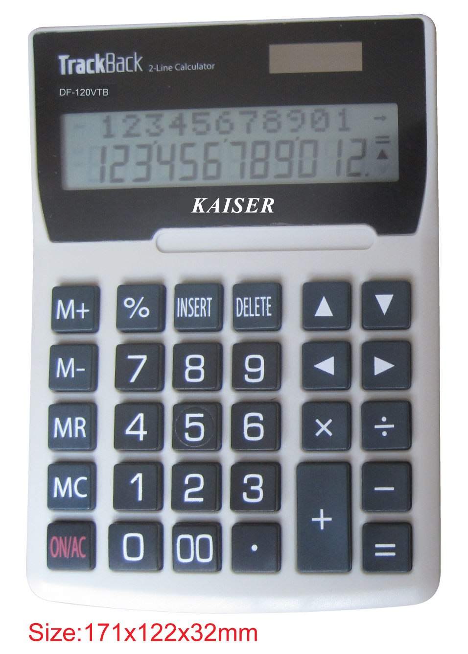 2-line 12 digit big desktop calculator