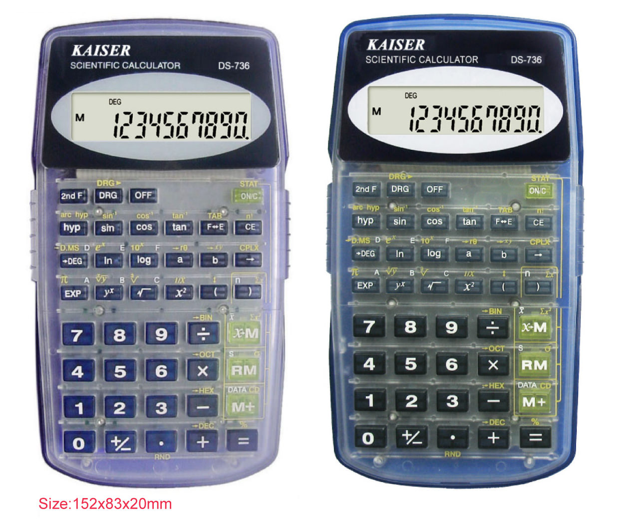 8+2 digit 136 functions scientific calculator