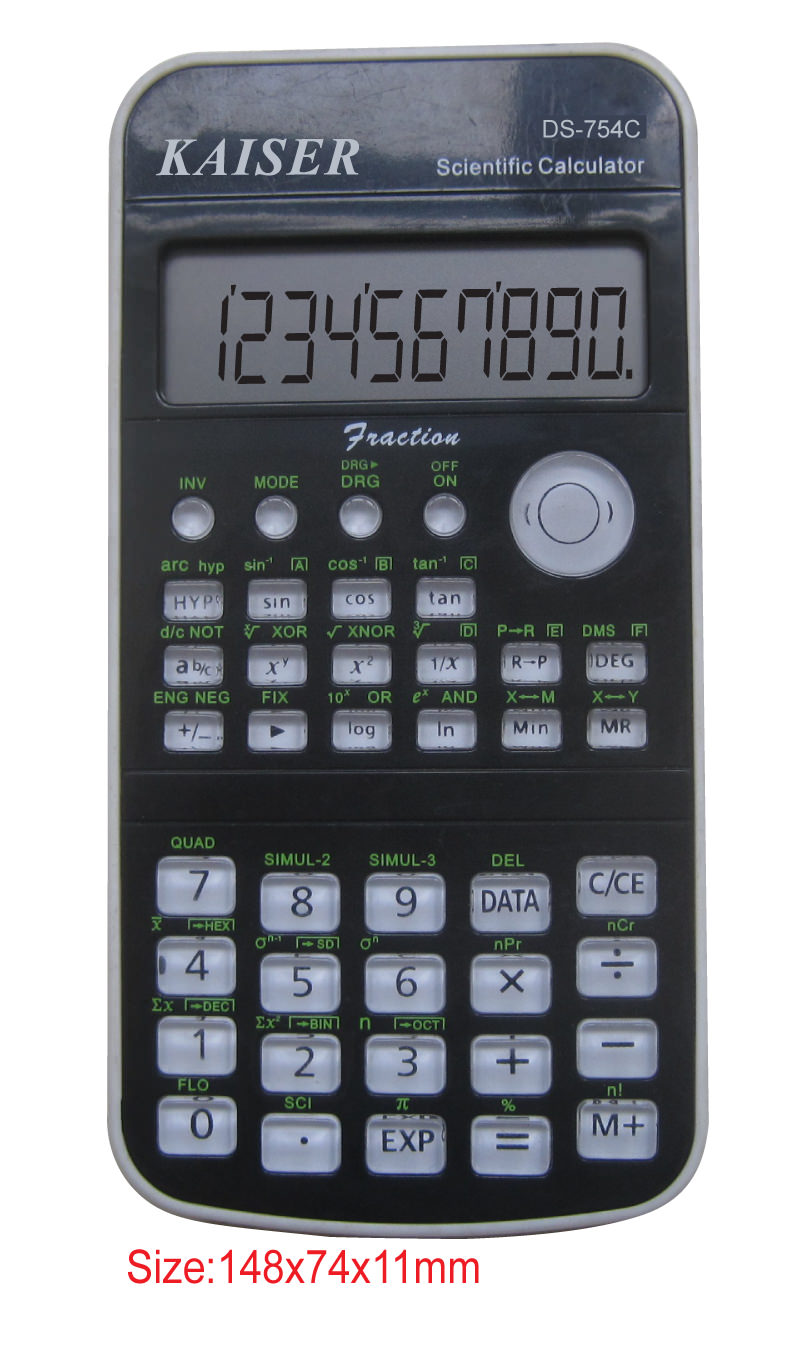 10+2 digit 145 functions scientific calculator