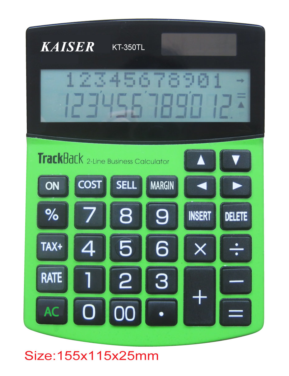 2-line 12 digit mid desktop calculator