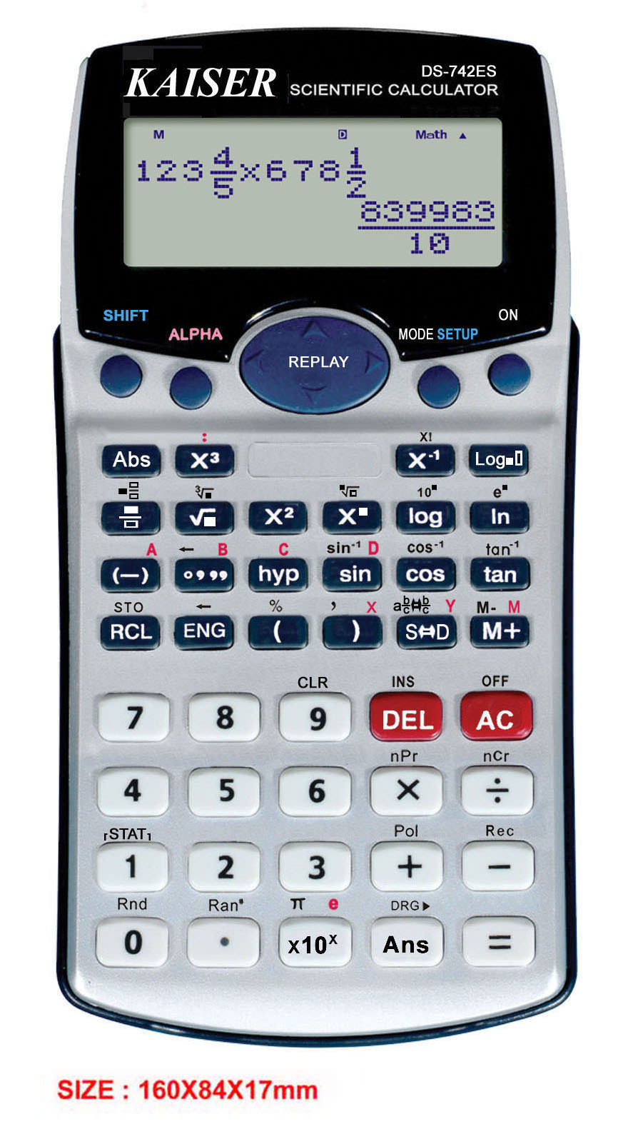 2-line 10+2 digit 230 functions textbook display scientific calculator