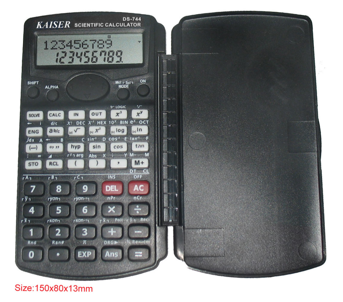 2-line 10+2 digit 283 functions scientific calculator