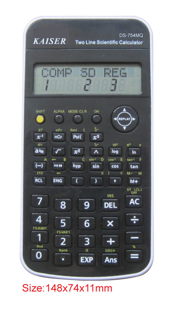 2-line 10+2 digit 224 functions scientific calculator