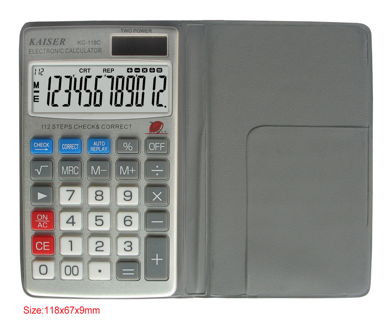 12 digit handy calculator with check&correct