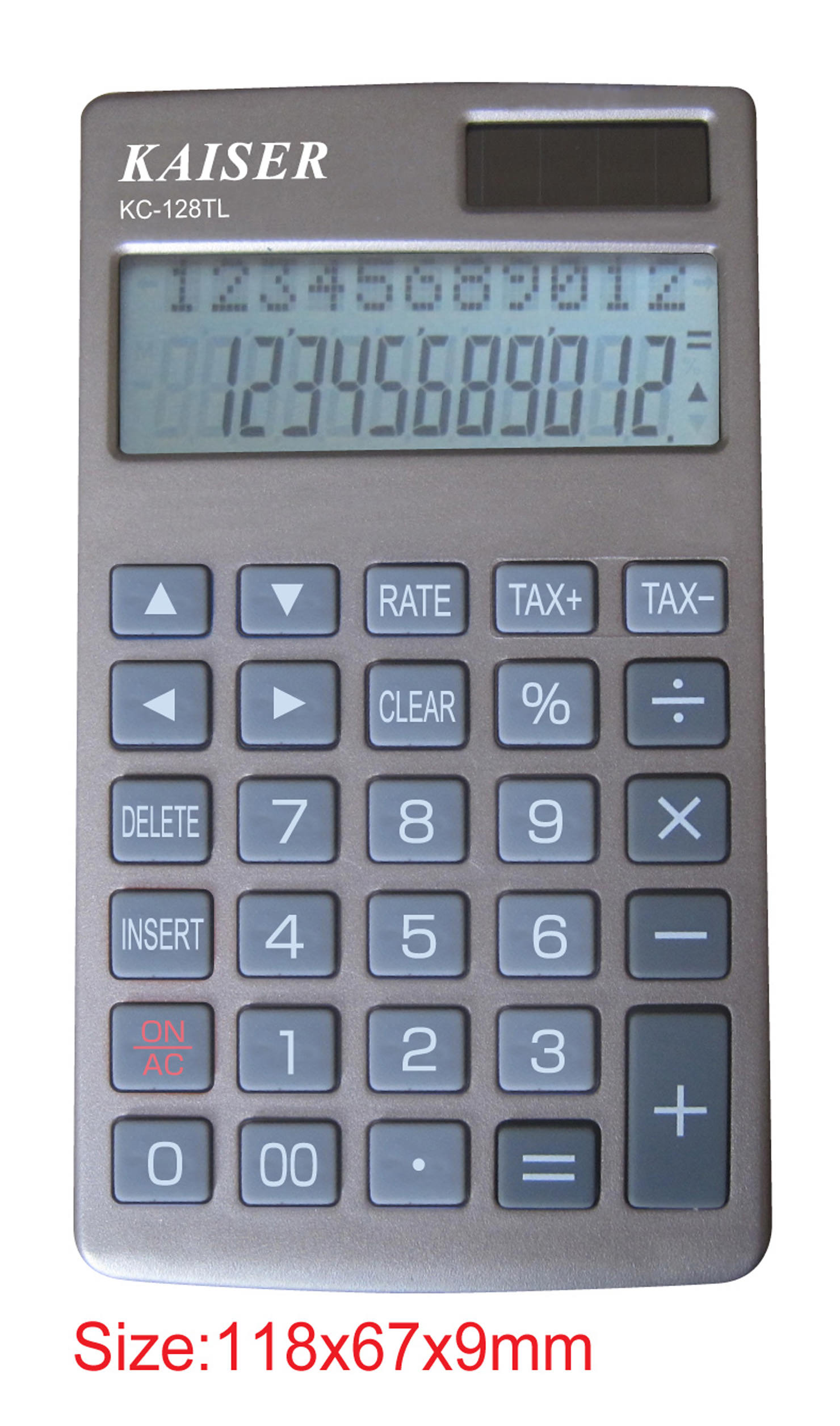 2-line 12 digit handy calculator