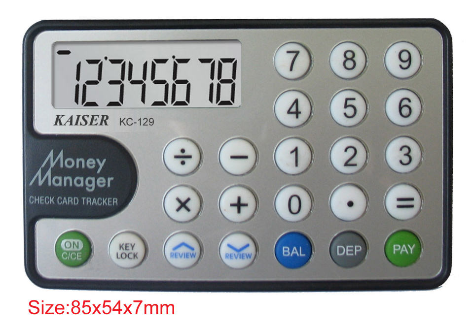 8 digit handy calculator with checkbook