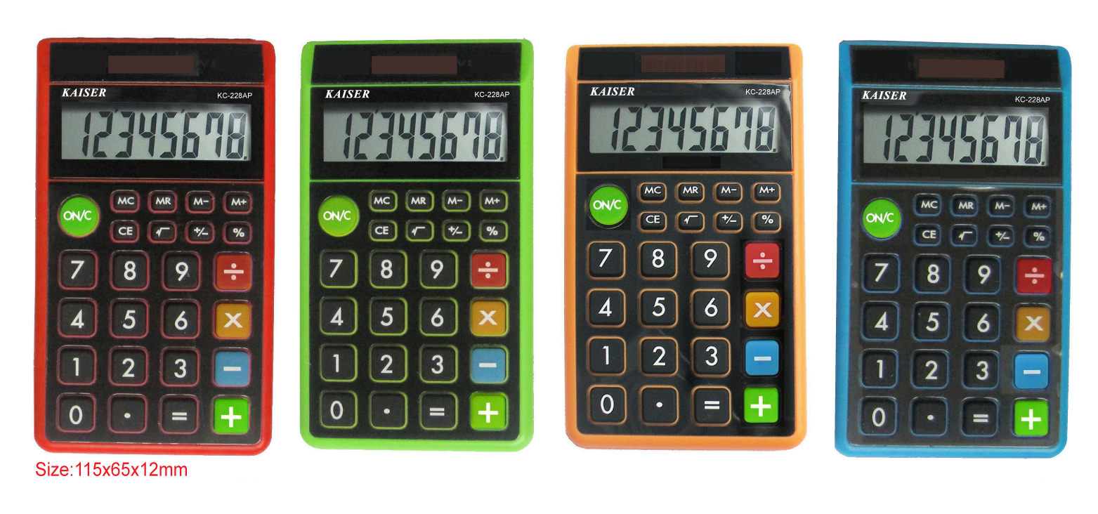 8 digit handy calculator