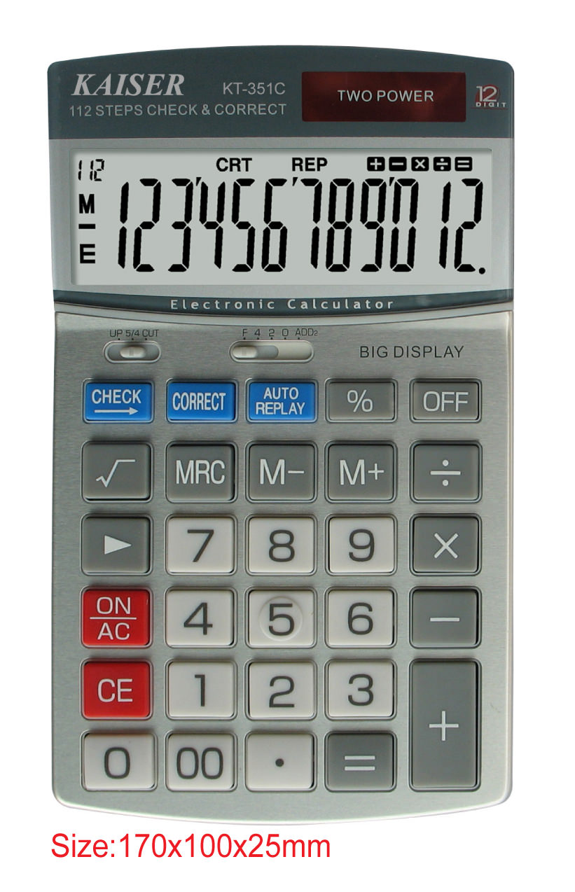 12 digit mid desktop calculator