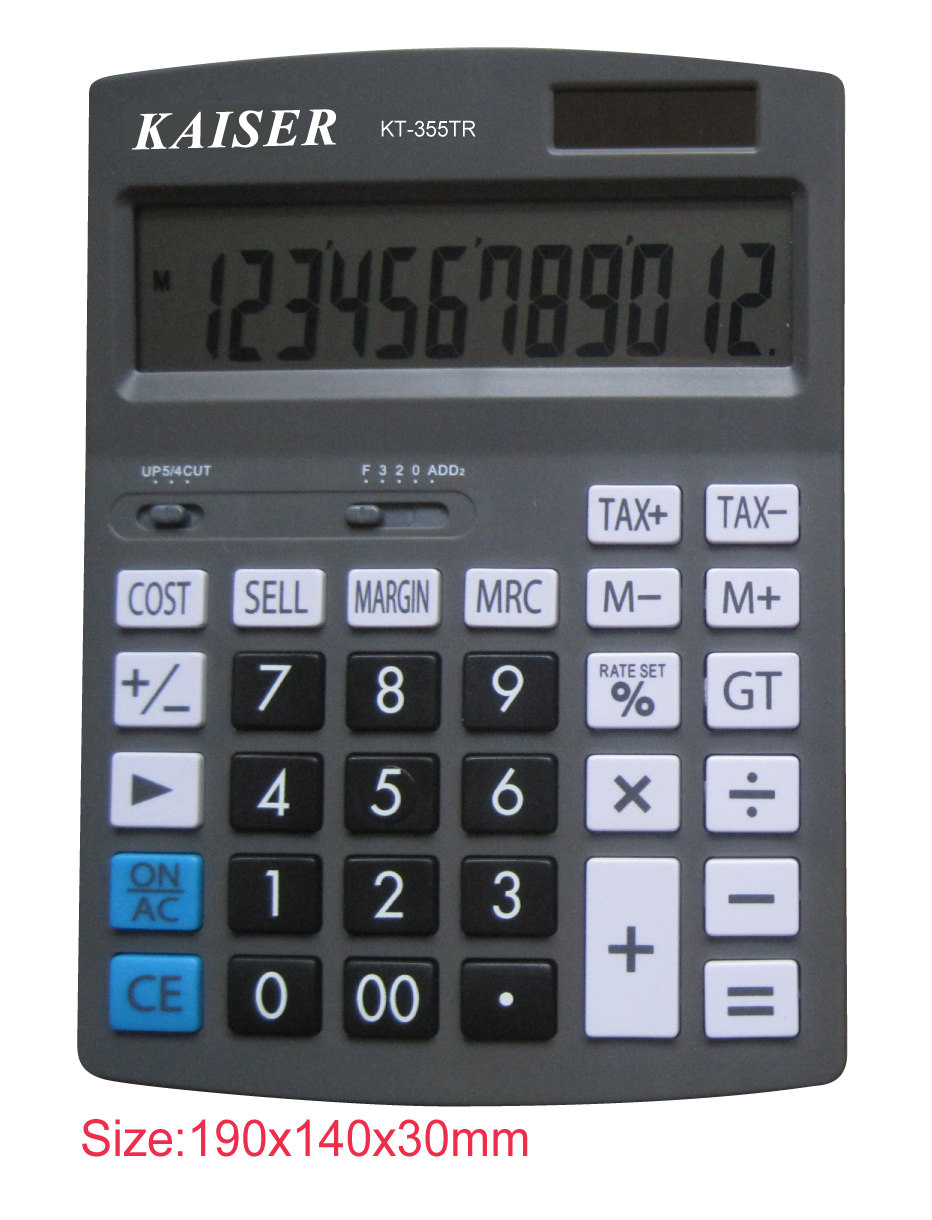 12 digit big desktop calculator