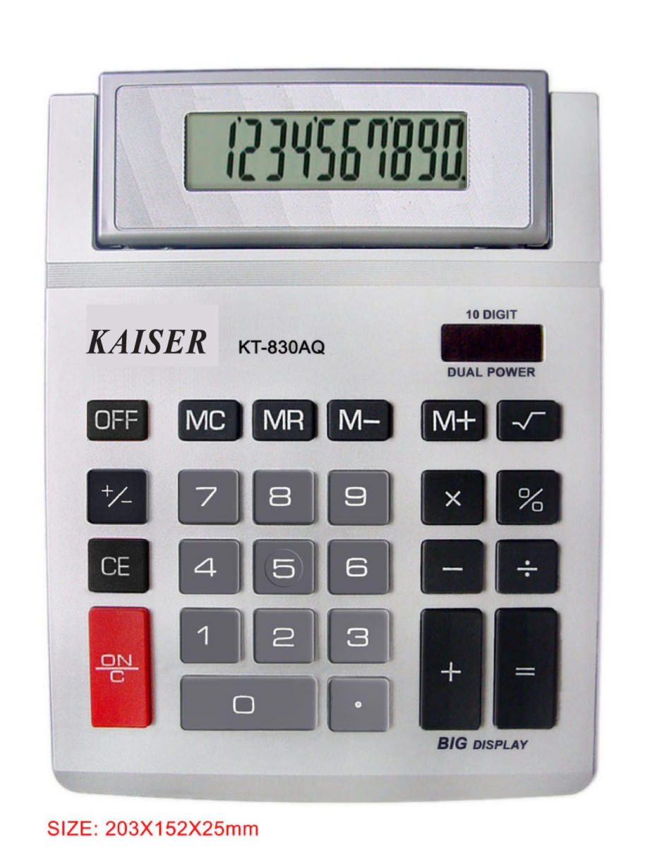 10 digit big desktop calculator
